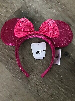 NWT DISNEY PARKS MINNIE MOUSE EARS Imagination pink headband free shipping