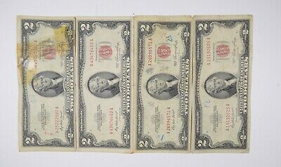 1953 or 1963  $2 Red Seal Note Lot of 1 in new holder circulated low price wow