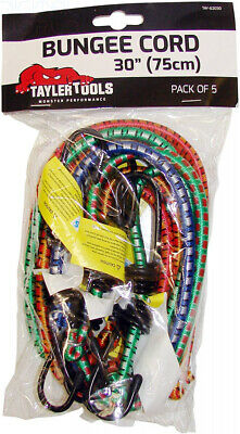 Taylor Tools TAY-62030 Heavy Duty Bungee Cord 75cm/30 5 Pack, Set of 75cm/30""