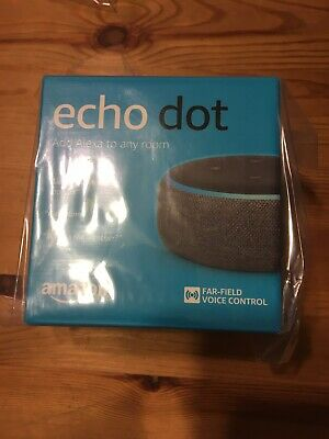 Amazon Echo Dot (3rd Gen)-Voice control your smart home with Alexa-Charcoal