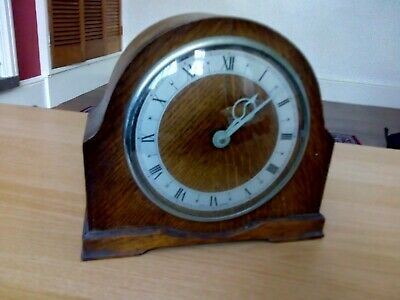 Vintage  Mahogany Wall shelf mantle clock wind Approx 1900's