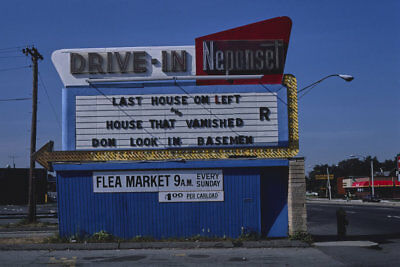 Neponset Drive-in Movie Theater Sign Dorchester MA 1984 View 8x12 photo