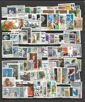 Used 100 + All Different U.s. Commemorative Stamps