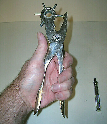 General Hardware Revolving Leather Hole Punch Plier Tool #72 England Extra Punch