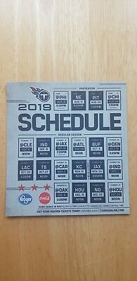2019 Tennessee Titans magnet schedule New.