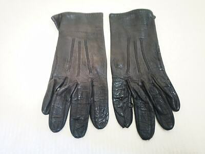 Vintage Ladies Leather Gloves. Lined. Size 7- Lovely Condition. 1960s