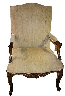 Vintage Carved French Style Bergere Chair