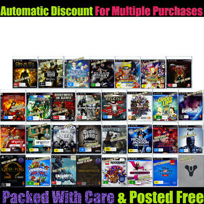 💙❤️️Sony PlayStation 3 PS3 Your Choice of 🔹 GENTLY PRE-OWNED GAMES 🔹 22/02/20