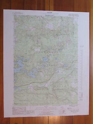 Jacks Landing Michigan 1986 Original Vintage USGS Topo Map