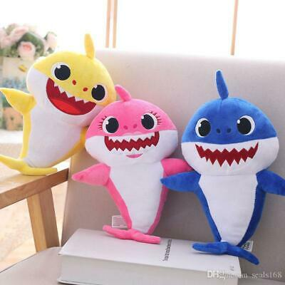NEW PinkFong Baby Shark Plush Singing LED Light Music Doll English Song Toy Gift