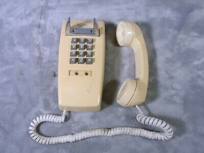 Bell South Telephone Push Button Wall Phone 2554 BEIGE Tested Working 1980? VTG