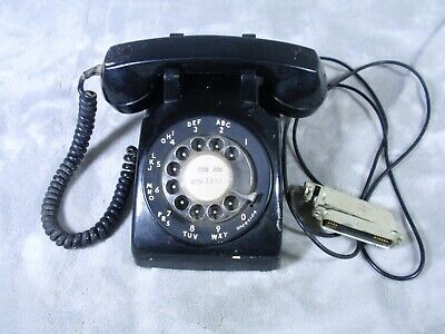 Bell South Telephone Rotary BLACK Table Phone Not Tested Stamped 4-69 1969? VTG