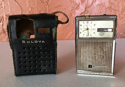 "Vintage Bulova Clock Radio Transister Radio ""AS IS PARTS REPAIR"""
