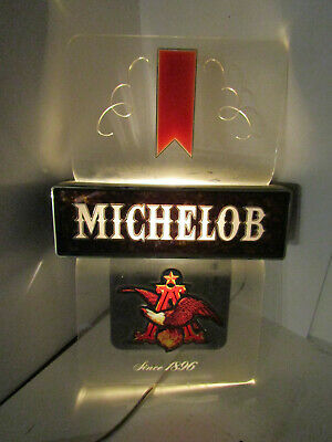 Old Vintage Michelob Beer Light Bar Sign Barware Man Cave Advertising