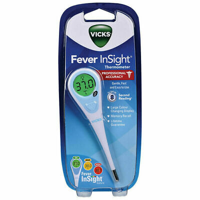 Vicks Fever Insight Thermometer (Gentle Fast & Easy to Use)