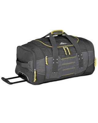 High Sierra Ultimate Access 66cm Wheeled Duffel Backpack Charcoal/Yellow