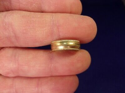 Very Old Vtg Antique Yellow Gold Filled Art Deco Era? Milgrained Reeded Toe Ring