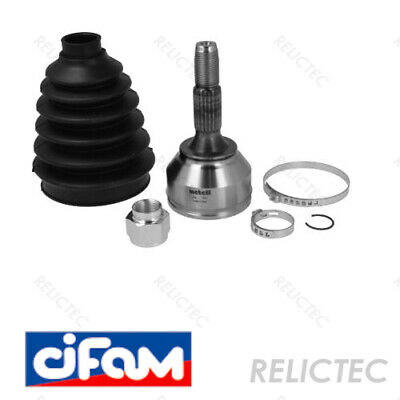 CHRYSLER VOYAGER 3.3 DRIVESHAFT HUB NUT /& CV JOINT BOOT KIT BOOTKIT /& CONE 97/>04