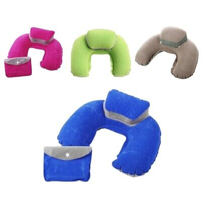 10X(Inflatable Neck Pillow Soft Travel Air Cushion Sleep Support for Flight 4R6)