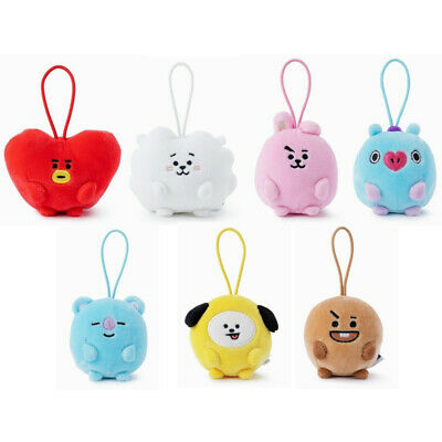 BTS BT21 Standing Mini Plush Doll Stuffed Doll Key Ring Bag Charm 7 Characters