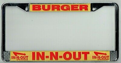 SUPER RARE In-N-Out Burger Vintage California DISCONTINUED License Plate Frame