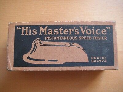 HMV / His Master's Voice Instantaneous Speed Tester for Gramophones