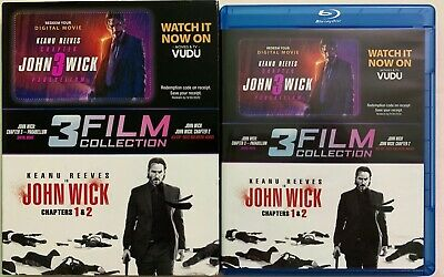 Johh Wick Chapters 1 & 2 Blu Ray 2 Disc Set Walmart Exclusive + Slipcover Sleeve