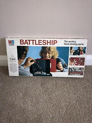Battleship Vintage MB Games Board Game Complete With Rules Classic Family Game