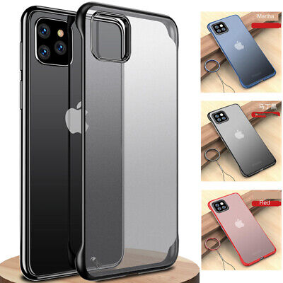 For iPhone 11 Pro Max XS XR X Ultra Thin Frameless Case Transparent Matte Cover