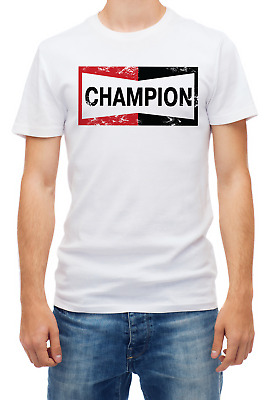 Inspired by Once Upon a Time in Hollywood CHAMPION white t shirt for Men's