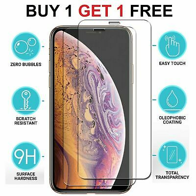 For Apple iPhone 11 11 PRO MAX Tempered Glass Screen Protector Case Friendly