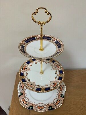 Vintage China 3 Tier Cake Stand For Weddings / Afternoon Tea Partys