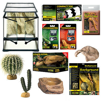 Exo-Terra Medium Desert Starter Habitat Kit - 45x45x45cm - Everything for Setup