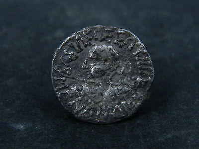 Ancient Silver Coin Bactrian 100 BC #B349