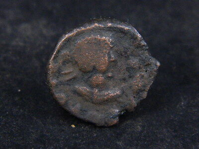 Ancient Bronze Coin Bactrian 100 BC #GL1877
