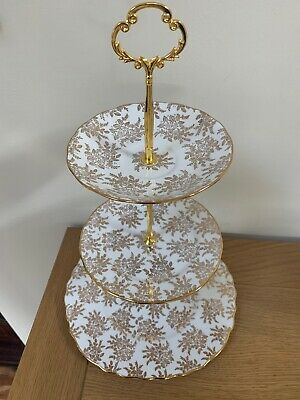 Vintage Royal Vale China 3 Tier Cake Stand For Weddings / Afternoon Tea Partys