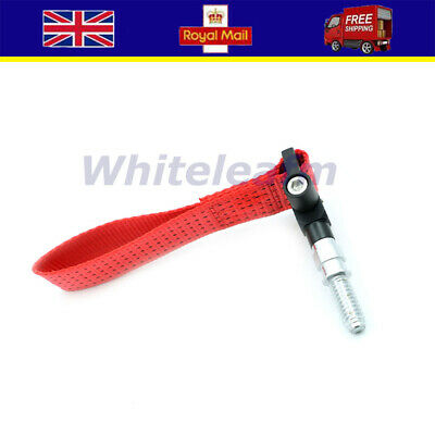 1pcs Auto Car Trailer Ring Tow Hook Towing Rope Strap 5000lb Fit For ALL BMW Red