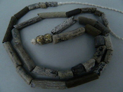 Ancient Glass Etrc. Beads Strand Roman 200 BC No Reserve #FBE28(F)