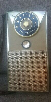 Vintage General Electric Six Transistor Radio Gold Plated