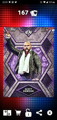 Topps WWE SLAM Digital 2018 Purple Excellence Base Scott Dawson 100CC