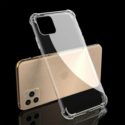 Case for iPhone 11 Pro Max Transparent Shockproof Silicon Clear Cover protection