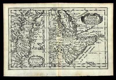 East Africa coast of Arabia Abex Zanquebar 1699 Sanson map