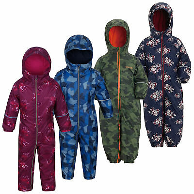 Regatta Printed Splat II Kids Insulated All-in-one Snowsuit