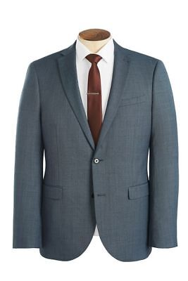 NEW Next Wool Blend Suit Jacket Slim Fit Light Blue Mens Size 36R Eur 46 RRP £85