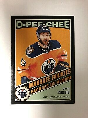 2019-20 O-PEE-Chee Retro Black Marquee Rookie Josh Currie #536 #'d 93/100 OPC
