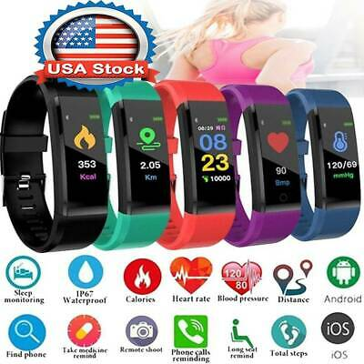 Fitness Smart Watch Activity Tracker Kids WomenMen Fitbit Android iOS Heart Rate