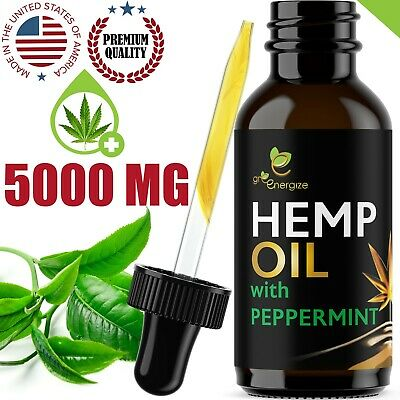Peppermint Flavor Hemp Oil Extract For Pain Relief Anxiety Sleep 5000 mg