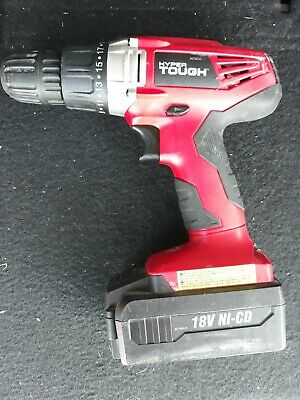Hyper Tough 18-Volt Ni-Cad Cordless Drill with Battery AQ75023G - Pre owned