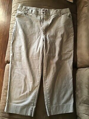 RIDERS Casuals  LEE Capri Pants Women's Size 18M Casual Cotton Mid-Rise Gray