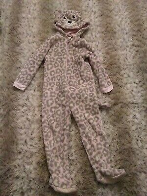 Girls 3-4 Fleece Cat All-in-one Jumpsuit Bodysuit Fluffy Kitty Great Condition